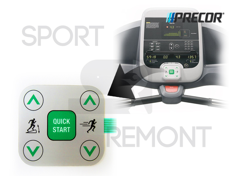 Кнопка изменения нагрузки беговой дорожки Precor