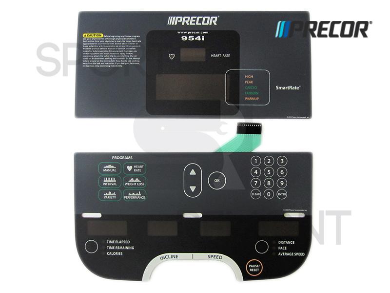 Наклейка кнопок дисплея беговой дорожки Precor 954i